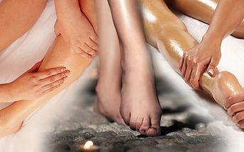 Dopřejte si 70 minutovou oboustranou masáž dolních končetin voným olejem dle vlastního výběru!! Uvolnění pro Vaše tělo i mysl!