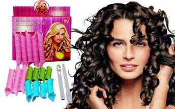JEN 100 KUSŮ!!!!!! 16 MAGICKÝCH NATÁČEK na různé délky vlasů a komu háček. Pro krásný účes už nemusíte chodit do kadeřnictví.