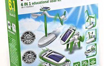 Solární stavebnice SOLARBOT - 6 modelů robotů v 1 balení. Ideální hračka, která baví a vzdělává!