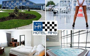 Adrenalínový veľkonočný 3-dňový pobyt pre 2 osoby v hoteli Ring*** v atraktívnom prostredí SLOVAKIA RINGU! V cene polpenzia, vstup do wellness a škola šmyku s profesionálnymi inštruktormi! To všetko so zľavou 50%!