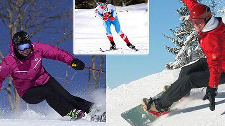 15 hodin intenzivní výuky snowboardingu nebo lyžování(sjezdové, běžecké) za neopakovatelných 1574 Kč! Individuální přístup, cena včetně dopravy!!!