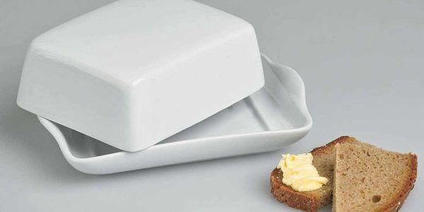 SUPER máselnička z vysoce kvalitního bílého porcelánu za 119 Kč! Pořiďte si máselničku, ze které máslo bude chutnat ještě lépe!