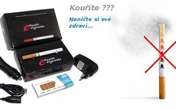 Elektronická cigareta + 10 ks náplní ! Pouze 189 Kč za elektronickou cigaretu + 10 ks náplní a 3 druhy nabíjení ( základní 220 V, USB, do auta ) ! Sleva 79 % !