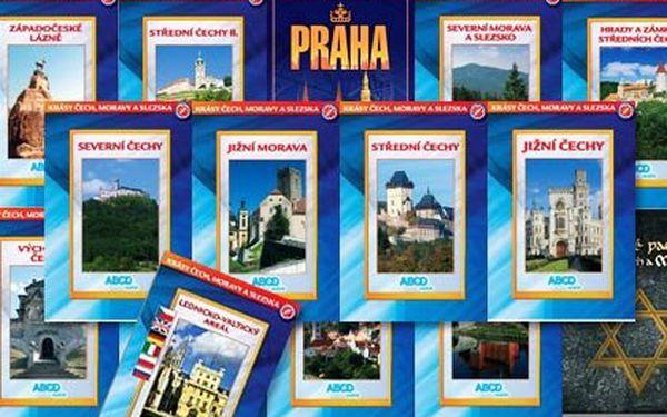 Sada 15 dokumentárních DVD – celkem 14 hodin dokumentárních filmů edice Krásy Čech, Moravy a Slezska s poštovným
