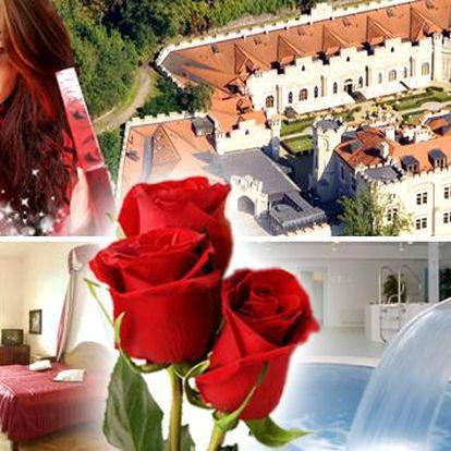 JARNÍ ROMANTIKA V ZÁMECKÉM HOTELU V HLUBOKÉ PRO DVA. Luxusní 2 dny v zámeckém hotelu se snídaní, neomezeným odpočinkem ve wellness, čtyřchodovou večeří při svíčkách, kyticí růží a sektem na terase. Prožijete pohádku!