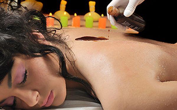 Čokoládová lymfatická masáž celého těla včetně čokoládového zábalu..