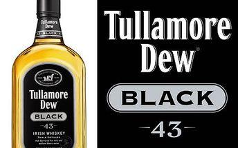Výtečná Tullamore Dew Black! Legendární irská whiskey se bude dobře vyjímat jak ve vašem domácím baru, tak stejně dobře poslouží jako dárek!