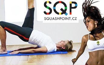 50 Kč za jednu lekci (Zumba, Bosu bodyform, Power joga, Pilates, spinning, fit box, kick box, salsa, alpinning, jumping) ve Squashpointu!!! 500 Kč za 10 libovolných lekcí