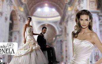 Svatební šaty pro nevěsty či ženichy s 50% slevou! 1200 Kč za voucher v hodnotě 2400 Kč na půjčení či nákup svatebních šatů pro nevěsty či ženichy.