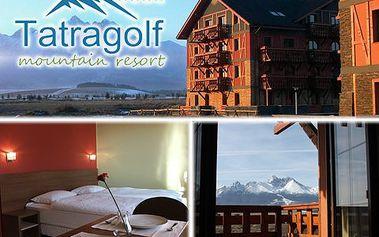 Slovenská dovolevá pro 4 na 2 noci v luxusním resortu Tatra Golf! Lyže, běžky, aquapark – slevy na skipas či vstup do Aquacity! Sport, relax, zábava!