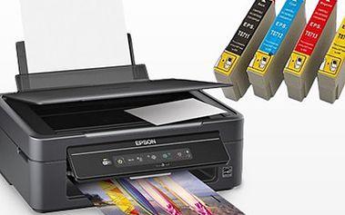 10dílná sada CARTRIDGE pro tiskárny značky EPSON Sada obsahuje cartridge T0711 až T0714, každá náplň o objemu 21 ml má vysokou kvalitou tisku a nezpůsobuje zasychání trysek.