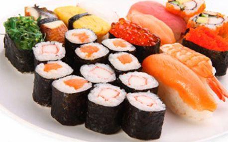 SUSHI MENU pro 2 osoby Pochutnejte si na japonské kuchyni. Menu obsahuje Lionking roll 8 ks, Ebi sushi 3 ks, White tuna maki 6 ks. Ochutnejte i jiné speciality v restauraci Saga Sushi.