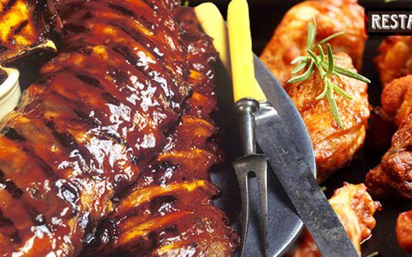 149 Kč za NEOMEZENOU konzumaci grilovaných žebírek a kuřecích křidýlek. Dobroty z restaurace Pácl se slevou 50 %!