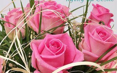 Kytice ze 7 růží pro radost! Krásná velká kytice ze 7 růží a doplňkové zeleně udělá radost, ať je či není svátek!