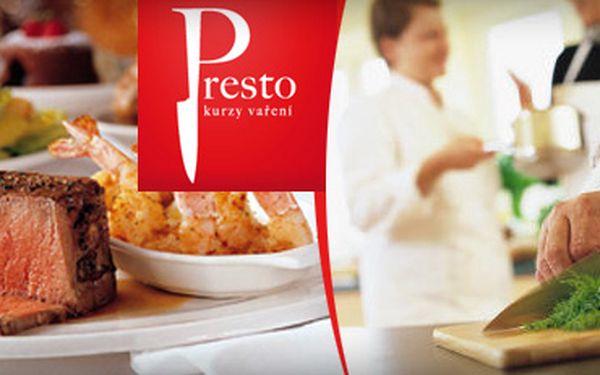 GASTRONOMICKÁ CESTOMÁNIE-NAUČTE SE VAŘIT ITALSKOU, MEXICKOU, nebo ČESKOU kuchyni v kulinářském studiu Presto!!! Čtyřhodinový kurz vaření pro jednu osobu za 1690 Kč!!