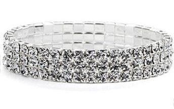 TIP na skvělý dárek - elegantní dámský NÁRAMEK z bílého krystalu!