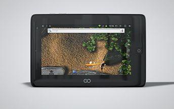 """TABLET GoClever I71, podlehněte multifunkční novince Tablet s operačním systémem Android 2.3, 7"""" displejem 800x480, vestavěnou kamerou a pamětí RAM 256MB. Balení dále obsahuje nabíječku, transfer box a návod."""