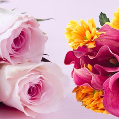 99 Kč za řezanou kytici dle přání pro každou příležitost. Lilie, orchideje, růže, karafiáty, anturie a další květy pro radost mamince, babičce i přítelkyni.