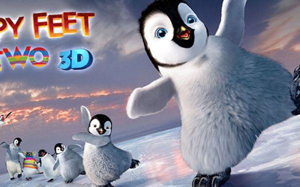Dvě vstupenky na 3D projekci filmu Happy Feet 2! Pokračování veselých dobrodružství malého tučňáka v kině Lucerna.