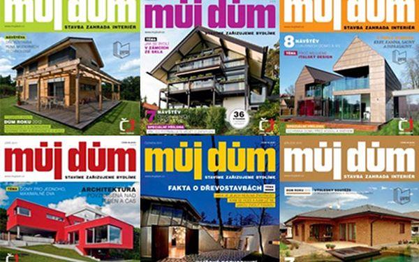 275 Kč za půlroční předplatné oblíbeného designového časopisu Můj dům!