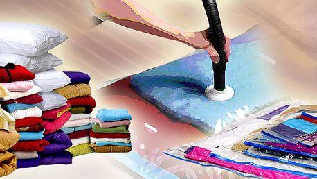 Spousta věcí a málo místa? To už není problém! Vacu Bag je revoluční vakuový pytel, který ušetří spoustu místa. Stačí z pytle vysát vzduch a je to! 1 kus!