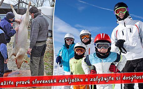 3 dny na středním Slovensku a pravá slovenská zabijačka jen za 1230 Kč/osobu. Ubytování ve Valentovej v srubových chatkách a k tomu plná penze s 50% slevou.