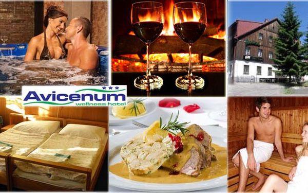Přivítejte jaro na horách! 1 699 Kč za 3DENNÍ NABITÝ WELLNESS BALÍČEK pro 2 osoby v centru Jizerských hor! V hotelu Avicenum si užijete polopenzi, vířivku při svíčkách, solnou jeskyni, saunu a welcome drink v moravské vinárně. Dopřejte sobě a svému partnerovi dokonalý oddech s 50% slevou!