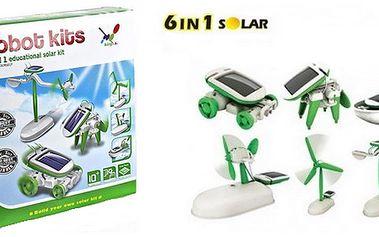 129 Kč za solární stavebnici robota SolarKit 6v1. Geniální hračka, spojující zábavu a vzdělaní, je vyhledávána malými i velkými konstruktéry!