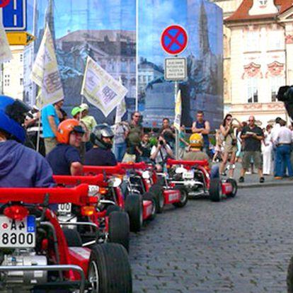 599 Kč za 2hodinovou jízdu nadupanou motokárou. Skvělý zážitek v ulicích stověžaté Prahy včetně vybavení a sleva 71 %.