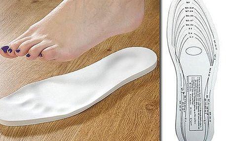 Tvarovatelné vložky do bot! Vložky, které se vytvarují přesně podle vašeho chodidla, už žádná bolest z otlačených bot!