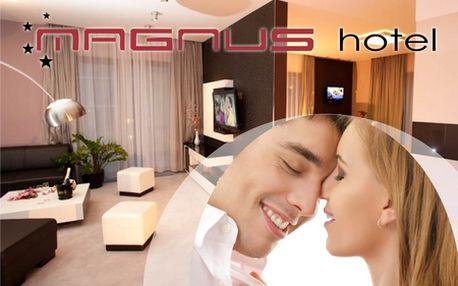 VÍKENDOVÝ WELLNESS pobyt na 3 dni pre 2 osoby v hoteli Magnus**** so zľavou 58%! Príďte si vo dvojici oddýchnuť do luxusného hotela v Trenčíne.