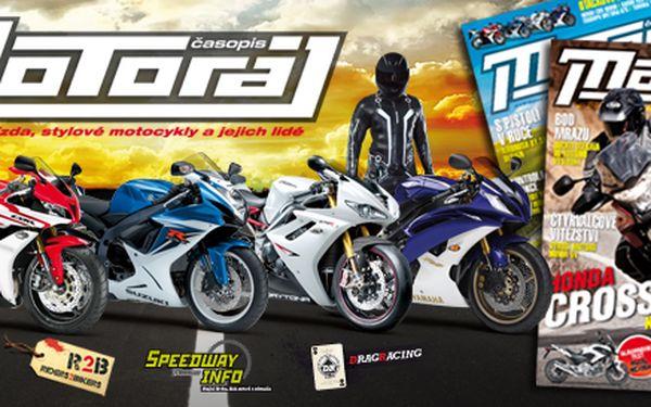 385 Kč za roční předplatné časopisu Motoráj! Skvělý dárek pro fanoušky motorek a 11 čísel s katalogem motocyklů i s přílohami se slevou 50 %.