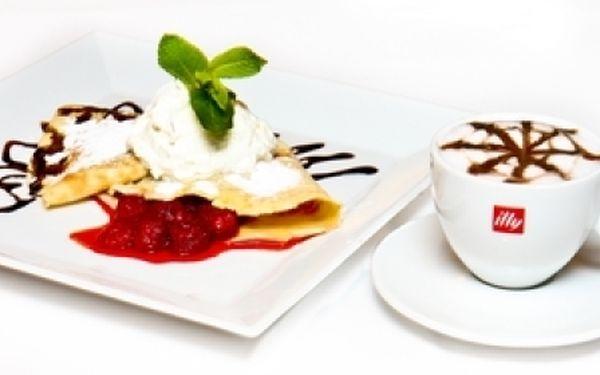 Káva espresso s palačinkou jen za 38,- Kč v kavárně divadla Bez zábradlí! Dopřejte si něco dobrého! Pozvěte kamarádku či kamaráda na příjemné posezení. Zahřejete se výbornou kávou a smlsnete si na skvělých palačinkách ve stylové kavárně!