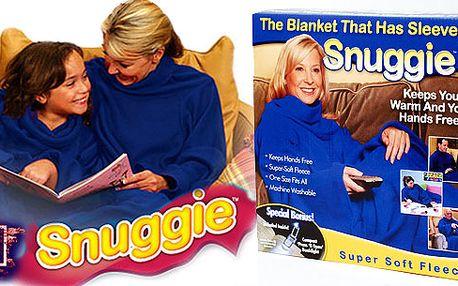 Snuggie - skvělá deka vhodná domu k televizi, na zahradu, na terasu, ke grilování atd... Deka s rukávy!! Hřeje a přitom můžete pracovat, jíst, bavit se!!