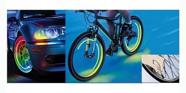 Tyto svítící ventilky promění vaše kolo, auto nebo motorku v krále silnic. Cena pouhých 99 Kč!!