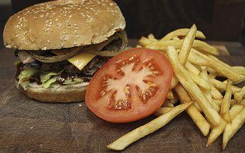 Skvělých 179 Kč za 2 maxi Burgery dle výběru (Chicken Burger steak, Mushroom Burger, Cheeseburger, Bacon Burger) včetně porcí hranolků a couvertu! Přijďte ochutnat výtečné burgery, o kterých se už dokonce i psalo v tisku! Pořádná bašta za skvělou cenu! Sleva 50 %!