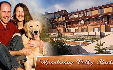5 dní v Tatrách pro 2-4 osoby již od 2830 Kč - kupón platný pro celý apartmán (80m2), včetně zapůjčení kol na celý pobyt, pobyt domácích zvířat zdarma, plus láhev sektu.