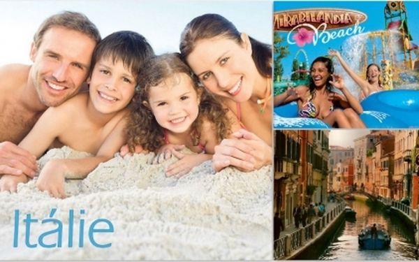 POZOR! Zájezd do ITÁLIE za pouhých 4.499 Kč ! Cena obsahuje 7 NOCÍ a 8 DNÍ ve vlastních bungalovech přímo u nádherné pláže! Možnost návštěvy BENÁTEK a zábavního parku MIRABILANDIA! Termín: 12.06.2012 – 30.06.2012!