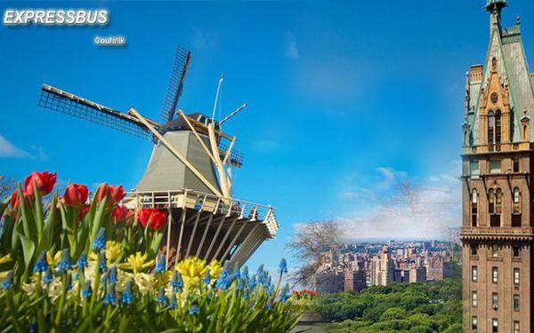Úžasný víkend v Holandsku, zemi sýrů, dřeváků a tulipánů. Obdivovat budete obrovský květinový park Keukenhof, podíváte se do skanzenu s větrnými mlýny, uvidíte ruční výrobu dřeváků, porcelánu a v doprovodu průvodce se vydáte za dobrodružstvím večerním Amsterdamem, kde se můžete projet i lodí.