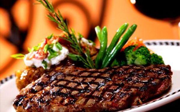 """Pouhých 259 Kč za 2x 200g hovězí steak """"Texas"""" + 2x hranolky! Přijďte si pochutnat s partnerem či kamarády na pořádné porci vynikajícího masíčka se slevou 53 %!"""
