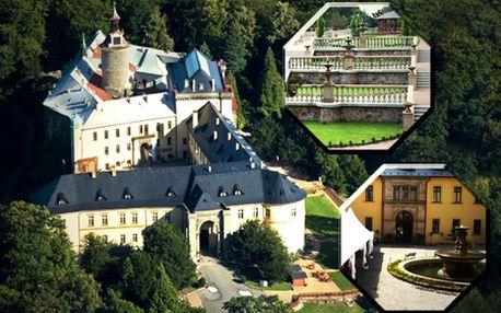 3-dňový rozprávkový pobyt pre 2 osoby na zámku Chateau Hotel ZBIROH so zľavou až 69%! V cene bohaté raňajky, stredoveký večierok v kráľovskom štýle, výstava Tvár Leonarda da Vinci, súkromné wellness a fľaša exkluzívneho vína!