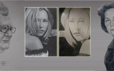 Portrét formátu A3 dle fotografie! Nechte se namalovat akademickou malířkou Magdalénou Novákovou!