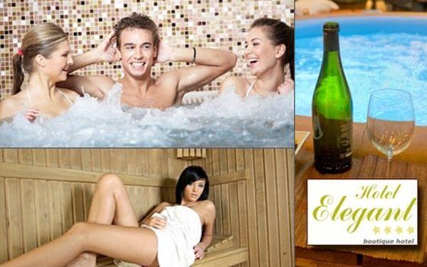 Relaxace ve VÍŘIVCE A SAUNĚ S BOUNSEM po dobu 2 hodin! Uvolněte se a prohřejte v klidném prostředí hotelu Elegant.
