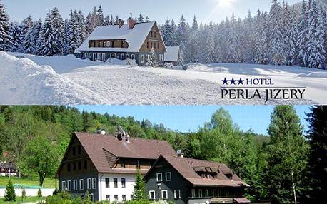 2 450 Kč pro 2 osoby na 3 dny v hotelu Perla Jizery*** v Jizerkách s polopenzí + ruská sauna, sekt a jahody! Relax i romantika v hotelu Perla Jizery*** v Jizerských horách. Milujete skvělé jídlo, pohodlné ubytování, krásnou přírodu a relax v sauně? Neváhejte !