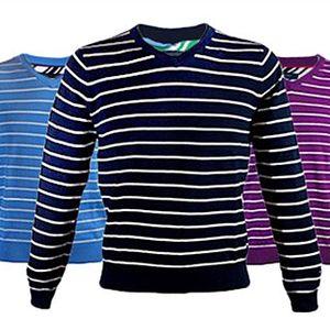 Pánský SVETR Tommy Hilfiger ve třech barvách. Buďte elegantní. Svetr Tommy Hilfiger ze 100% bavlny ve třech barvách - světle modrý, černý a fialový s proužky. Pokud Vám velikost nesedne, výměna je zdarma.