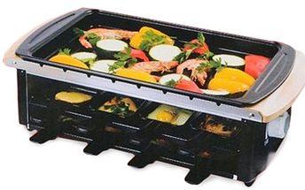 Elektrický gril FUN COOKING s příslušenstvím Tříúrovňový elektrický gril na smažení, pečení i udržování teploty jídla, příslušenství obsahuje- 8x malé pánve, jehlice na špízy a 2x mělký plech. Zpříjemněte si nejen letní večery grilováním.
