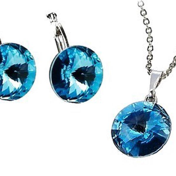 Luxusní set SWAROVSKI Elements aquamarine!