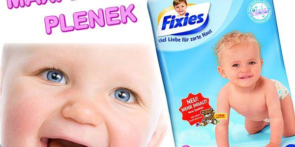 MAXI balení PLENEK FIXIES! 48 plenek pro děti 7 - 18 kg za neuvěřitelných 169 Kč! Neváhejte, k dispozici je pouze 150 kusů!