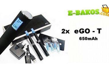 E-cigareta eGo-T! 650mAh nejlepší NOVINKA, která se dá na trhu v ČR a SR koupit v oblasti e-kouření a poštovným v ceně !