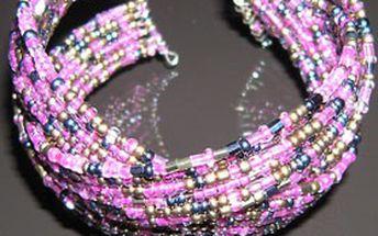 TIP na módní dárek - elegantní dámský náramek z barevných skleněných KORÁLKŮ!